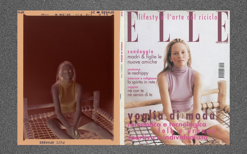 February 1999 cover of Italian Elle photographed by Luigi Cassinelli model Heather Payne